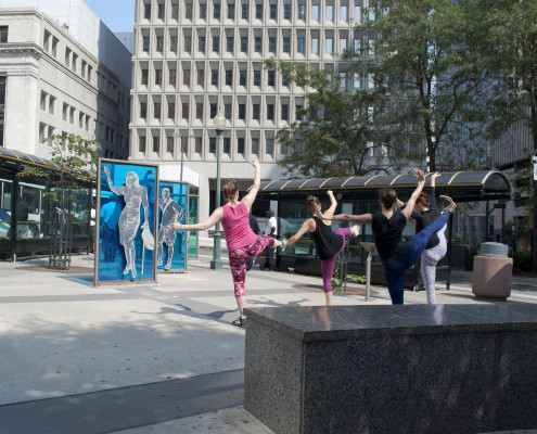 Kacico dancers perform as part of the 2015 Art in the Loop Project. Photo by Madison Kludy